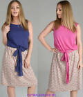 NEW Ladies 2 IN 1 Jersey Top Floral Skirt Womens Party Dress PLUS SIZES Fashion
