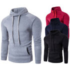 Fashion Mens Slim Fit Hoodie Short Sleeve T-shirt Hooded Sweatshirt Casual Tops