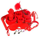 Unisex - 10PcsSet SM Adult Sex Toy Handcuffs Bandage Cuffs Strap Whip Rope Neck Cosplay