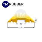 Heavy Duty Safety Cable Cover Guards Protector Floor Ramp 1 Channel Rubber PVC