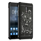 Dragon Case Anti Shock Tough Hybrid Rubber Armor TPU 3D Back Cover For *Nokia 6*