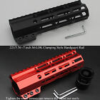 7'' Clamp Style M-LOK Handguard Rail Free Float Mount System Black/Red Anodized