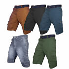 3/4 Mens Summer Casual Cotton Combat Work Cargo Pocket Shorts Pants