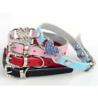 cheap puppy collars - Dog Puppy Pet Heart Charm Necklace Shiny Rhinestone Faux Leather Collar Cheap