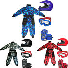 LEO Junior Kids Motocross Helmet MX Race Suit Off Road Quad Gloves Goggles Set