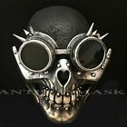 Steampunk  Half Face Skull Spikes Goggles punk-inspired Burning Man Cosplay Mask