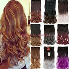 how to ombre red hair - US Real Feel Clip in hair Extensions Ombre One Piece Black to Red Dip Dye Color