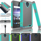 Shockproof Hybrid Rugged Dual Layer Case Protective Cover for For ZTE ZFIVE 2