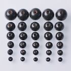 Wholesale 6mm~20mm Round Wood Spacer Wooden Loose Black Beads Diy Findings
