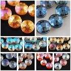 18x10mm Dull Polish Faceted Rondelle Crystal Glass Jewelry DIY Loose Beads