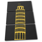 Leaning Tower of Pisa Italy Landmarks TREBLE CANVAS WALL ART Picture Print