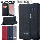 Samsung Galaxy S8 S8+ Plus Leather Wallet Case Shockproof Card Slot Flip Cover