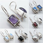 925 Sterling Silver FIX WIRE Deco Earrings NEW ! Highly Polished Fashion Jewelry