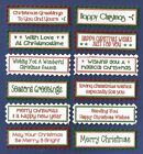 12 CHRISTMAS Greeting Card Craft Scrapbook Sentiment Banners*Colour Options
