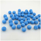 NEW IN 80PCS X 6MM OR 50PCS X 8MM BLUE ROUND ACRYLIC BEADS FOR JEWELLERY MAKING