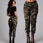 New Women Military Army Pocket Leggings Camouflage Camo Casual Pants Trousers