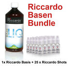 (34,95€/1L) Riccardo Nikotin Basis Cloud Base Bundle 1000ml 5mg Shots e Liquid