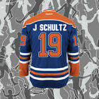 Justin Schultz Edmonton Oilers Jersey 19 Hockey Jersey Blue All Stitched