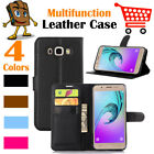 Leather Wallet Stand Folio LSP Case Skin For Samsung Galaxy J7 2016 / SM-J710