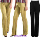 Womens Ladies Fancy Crinkle Pleated Crepe Trousers Palazzo Office Smart Pants