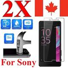 2x Plastic / Tempered Glass Screen Protector For Sony Xperia X Performance & XA