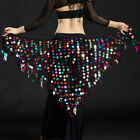 US New 2017 Women Belly Dance Costumes Hip Scarf Wrap Belt Skirt Sequin triangle