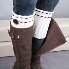1 Pair Ladies Fashionable Soft Knitted Leg Warmers Socks Boot Cover Winter Socks