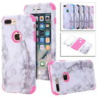 iPhone 5 6 7 Plus Granite Marble Texture Heavy Duty Hybrid Shockproof Case Cover