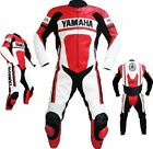 Mens Red White Riding Motorbike Leather Suit Sports Motorcycle Racing Suit