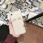 Cute Cartoon Beard Cat Soft Silicone Case Cover For iPhone 8 7 Plus Samsung