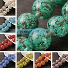 3pcs 20mm Big Round Lampwork Glass Charms Loose Spacer Beads Jewelry Findings