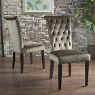 Venus Tufted New Velvet  Dining Chair - Set of 2