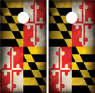 Maryland Distressed Grunge Cornhole Board Wraps Decals Graphics