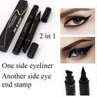 Winged Eyeliner Stamp Waterproof Makeup Cosmetic Eye Liner Pencil Black Liquid F