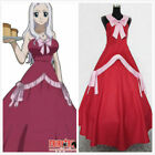 Fairy Tail Anime Mirajane Strauss Party Red Dress Cosplay Cost