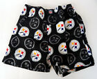 Pittsburgh Steelers Allover Logo Black Cotton Boxer Shorts Briefs Underwear NFL
