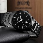 Luxury Men Waterproof Sport Stainless Steel Date Quartz Wrist Watch Dress Causal