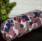 AL267g USA UK Europe Flag Cotton Canvas Yoga Bolster Cushion Cover Custom Size