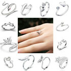12 Fashion Adjustable Opening 925 Sterling Silver Plated Ring Wholesale Lots