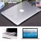 """Crystal Clear Hard Case Keyboard Cover LCD Protect MacBook PRO 13/15"""" Touch Bar"""