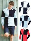 Front Row Mens Long Sleeve Rugby Sailing Polo Quartered Shirt
