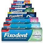 Fixodent Denture Adhesive Creams For Full or Partial Dentures - Pack of 3 or 6