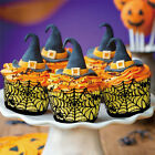 12 Pcs Spider Web Witch Castle Cupcake Cake Wrappers Halloween Party Decoration