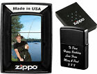 ZIPPO LIGHTER PERSONALISED  DOUBLE SIDE PRINTED !!  PHOTO & TEXT BIRTHDAY GIFT 3