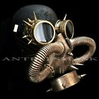 Halloween Steampunk Rivet Vintage Goggles & Burning Man Gas Cosplay Masks