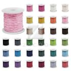 80M Waxed Cotton Cord Jewelry Making Thread Thong Beads Supply 0.5/1/1.5/2mm