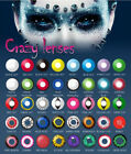 HALLOWEEN CRAZY COLORED CONTACT CIRCLE LENSES BIG DOLLY EYES,1 YEAR LIFE SPAN