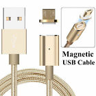 Braided Magnetic Micro USB Charger Charging Cable For Samsung LG Android Phones