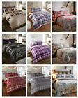 Flannelette Duvet Sets Warm & Cosy Brushed Cotton Bedding Quilt Covers