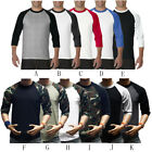 Men's Long Sleeve Baseball T-Shirt Raglan Jersey Casual Crew Neck Tee Shirt Tops